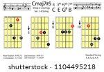 guitar chords.c major7 5 drop2...   Shutterstock .eps vector #1104495218