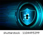 safety concept  closed padlock... | Shutterstock .eps vector #1104495299