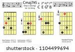 guitar chords.c major7 5 drop2...   Shutterstock .eps vector #1104499694