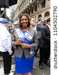 Small photo of New York, NY - June 3, 2018: NYC Public Advocate attends Celebrate Israel Parade on theme 70 & Sababa (70 & Awesome) on 5th Avenue in Manhattan