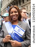 Small photo of New York, NY - June 3, 2018: New York city Public Advocate Letitia James attends at Celebrate Israel Parade on theme 70 and Sababa (70 & Awesome) on 5th Avenue in Manhattan
