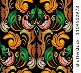 embroidery floral baroque... | Shutterstock .eps vector #1104502973