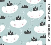 seamless cute pattern with...   Shutterstock .eps vector #1104503876