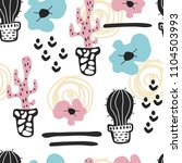 seamless pattern with cute...   Shutterstock .eps vector #1104503993