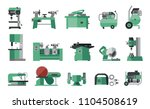 flat icon collection of... | Shutterstock .eps vector #1104508619
