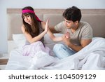 woman and man in the bedroom   Shutterstock . vector #1104509129