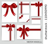big set of red gift bows with... | Shutterstock .eps vector #110450990