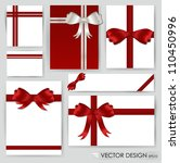 big set of red gift bows with... | Shutterstock .eps vector #110450996