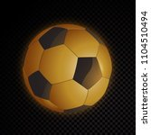 vector gold soccer ball... | Shutterstock .eps vector #1104510494
