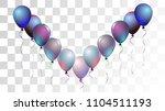 bright realistic helium vector... | Shutterstock .eps vector #1104511193