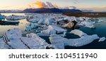 glacier lagoon in iceland...   Shutterstock . vector #1104511940