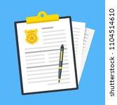 police report. traffic fine.... | Shutterstock .eps vector #1104514610