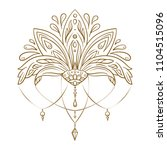 hand drawn vector lotus flower. ...   Shutterstock .eps vector #1104515096