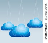 cloud computing and networking... | Shutterstock .eps vector #1104517046