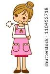 illustration housewife... | Shutterstock . vector #110452718