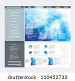 website template | Shutterstock .eps vector #110452733