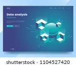 data analysis abstract... | Shutterstock .eps vector #1104527420