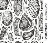 seamless pattern witt hand... | Shutterstock .eps vector #1104533690