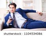 businessman drinking wine... | Shutterstock . vector #1104534086