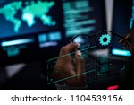 woman working with global... | Shutterstock . vector #1104539156
