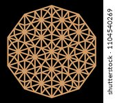 mandala. circular ornament....   Shutterstock .eps vector #1104540269