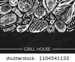 vector illustration with meat   ... | Shutterstock .eps vector #1104541133