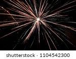 fireworks in a black background | Shutterstock . vector #1104542300