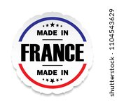 made in france flag button...   Shutterstock . vector #1104543629