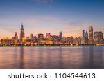 chicago  illinois  usa downtown ... | Shutterstock . vector #1104544613