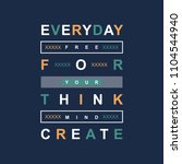 slogan typography urban t shirt ...   Shutterstock .eps vector #1104544940