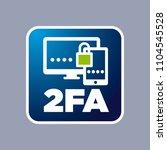 vector blue 2fa icon on grey...