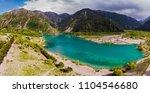 mountain lake issyk in almaty...   Shutterstock . vector #1104546680