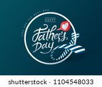 happy fathers day calligraphy... | Shutterstock .eps vector #1104548033