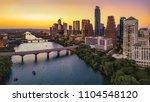 austin skyline in the evening... | Shutterstock . vector #1104548120