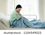 asian young woman patient lying ... | Shutterstock . vector #1104549023