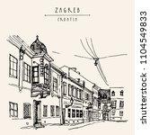 street in old town. zagreb ... | Shutterstock .eps vector #1104549833