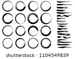 set of hand drawn ink brush... | Shutterstock .eps vector #1104549839