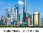 shanghai skyline  shanghai... | Shutterstock . vector #1104550289