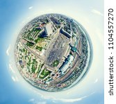 aerial city view with... | Shutterstock . vector #1104557270