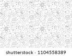 vector machine learning pattern.... | Shutterstock .eps vector #1104558389