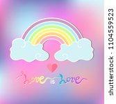 love is love handwritten text... | Shutterstock .eps vector #1104559523