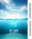 summer sea party poster... | Shutterstock .eps vector #1104560420