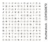 communication icon set.... | Shutterstock .eps vector #1104560870