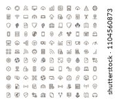 databse icon set. collection of ... | Shutterstock .eps vector #1104560873