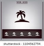 pictograph of island | Shutterstock .eps vector #1104562754