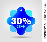 30  off special offer sale... | Shutterstock .eps vector #1104564353