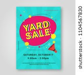 garage sale or yard sale... | Shutterstock .eps vector #1104567830