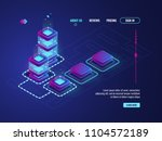 server room  datacenter and... | Shutterstock .eps vector #1104572189