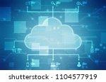 2d rendering cloud computing ... | Shutterstock . vector #1104577919