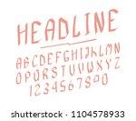 modern line alphabet. hipster... | Shutterstock .eps vector #1104578933